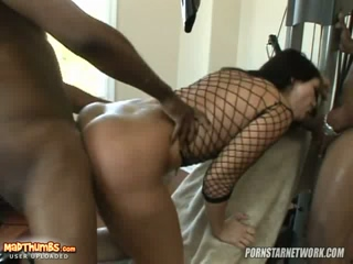 Britney Stevens Starts Off Alone And Ends Up With Two Black Cocks