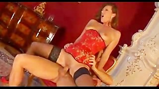 Red Head In Stockings Gets Analed