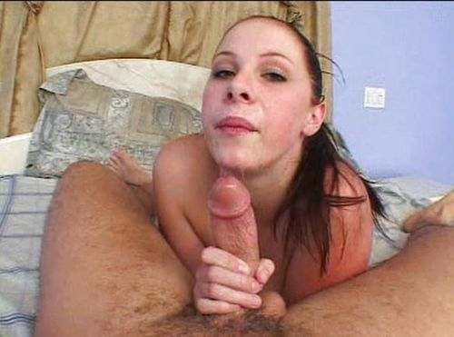 Cum in mouth of busty hot girl!
