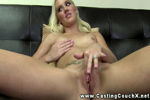 Blonde stripper on the Casting Couch