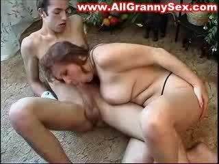 Amateur mature mother and her son