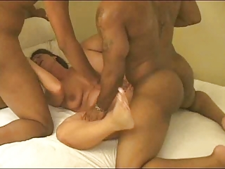 Another noisy wife gets fucked and creampied by a couple of black guys. eln