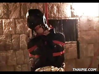 Asian Masked Tied Spread And Whipped