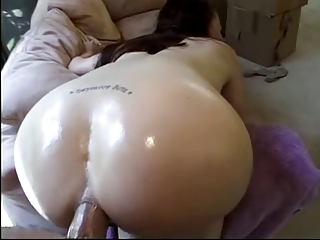 Ass fucked black haired girl