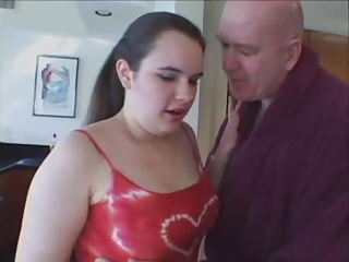 Bbw teen seduced by old man