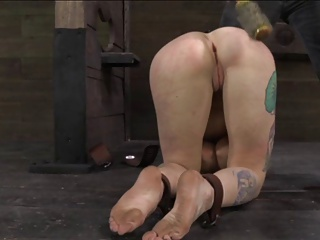 blonde tied and used