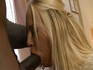 Carla cox sucks huge black cock for cumshot on her tits