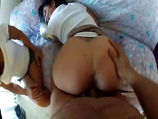 Daddy creampies not his Daughter with help from mom
