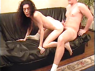 French hairy charlotte and a young guy