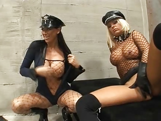 Fucking in prison in leather gloves on 2
