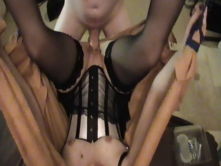 Fucking my sexy wife in our sex swing