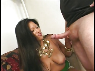 Gorgeous indian whore with a great ass gets fucked by a white guy