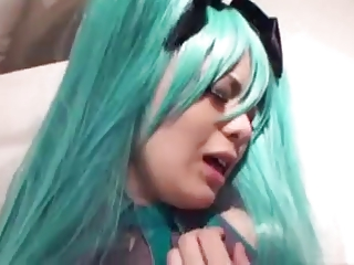 Japanese anime cosplay sex tape done right