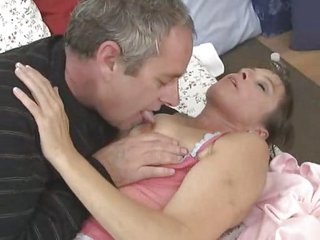 Mature couple fucking with cum in mouth