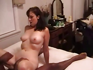 White slut wife with black cock