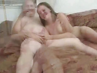 old man doing girl