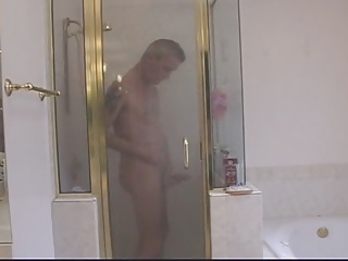 Teen daughter gets showered by daddy