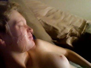 Teen with great tits sucks dick but hates facial