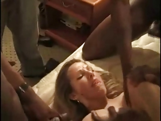 Wife fucks with three niggas in front of her husband