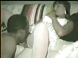 Wife gets black dick too creamy so hubby encourages her to clean it with her mouth!