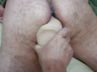 Wife strapon on big dildo in ass your husband close up