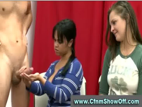 Babes checking out guys in CFNM art class