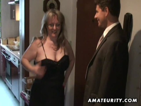 Busty amateur Milf sucks and fucks with c ...