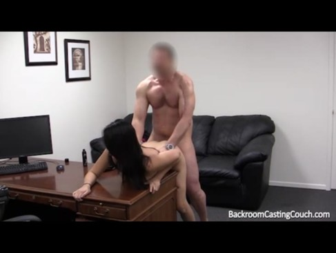 Busty Girl's Brave Anal Casting