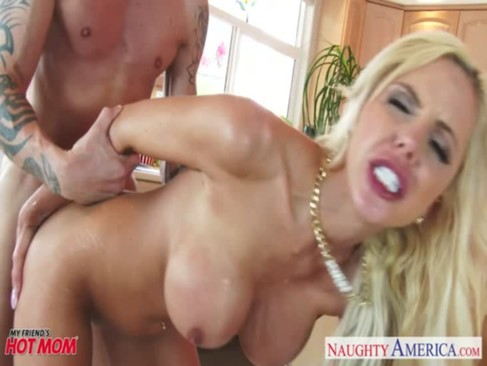 Busty mom Nina Elle gets nailed and facia ...