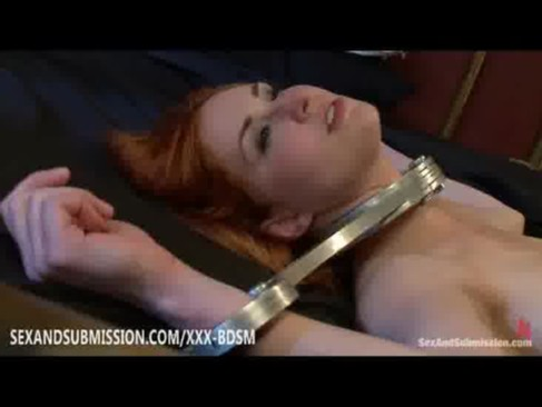 Redhead babe gives blowjob and fucking to her friends