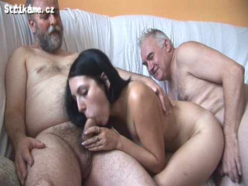 Strikame.cz - 6 old men vs young hottie