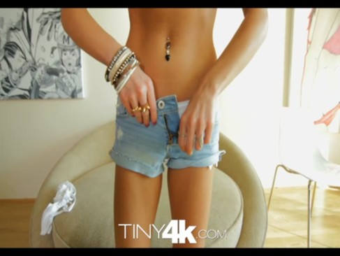 T4K Petite blonde swallows and takes huge ...