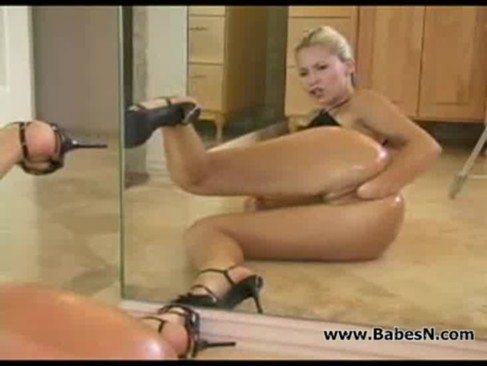 The most beautiful blonde anal fisted