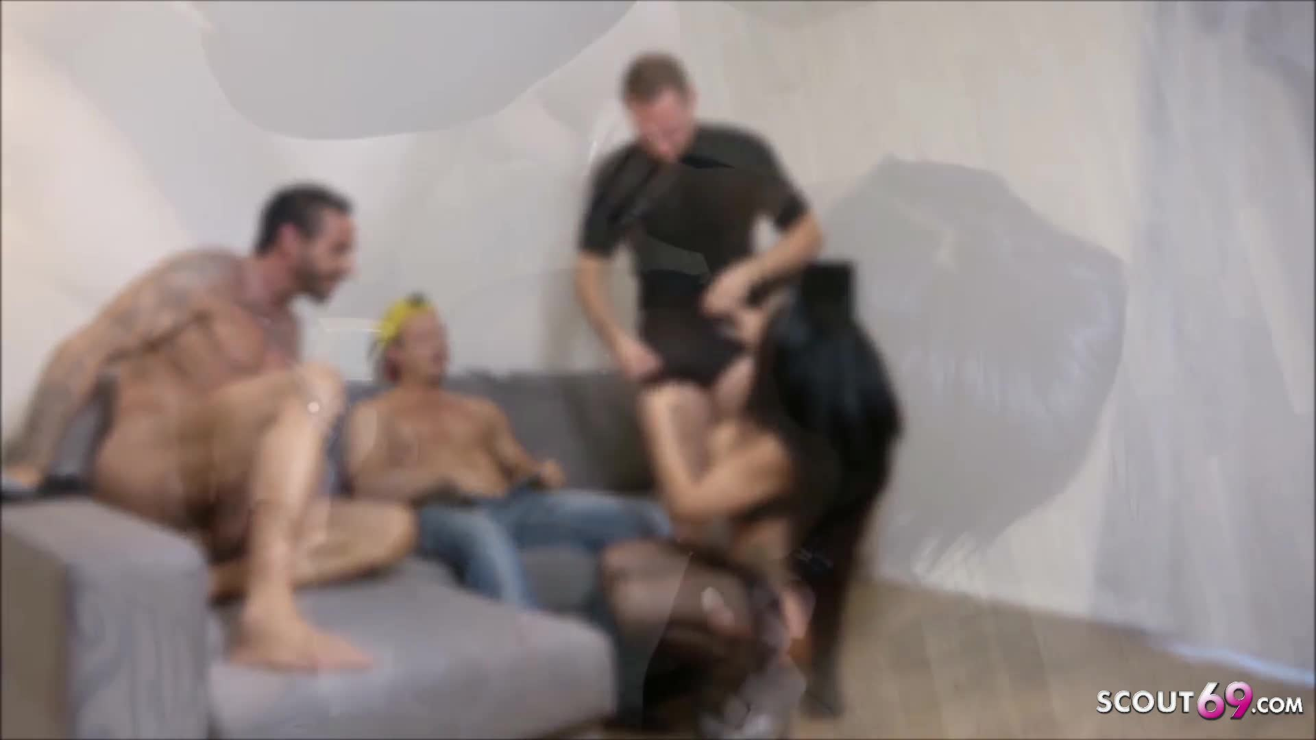 Hottest German MILF JackyLawless at Anal DP Foursome Sex
