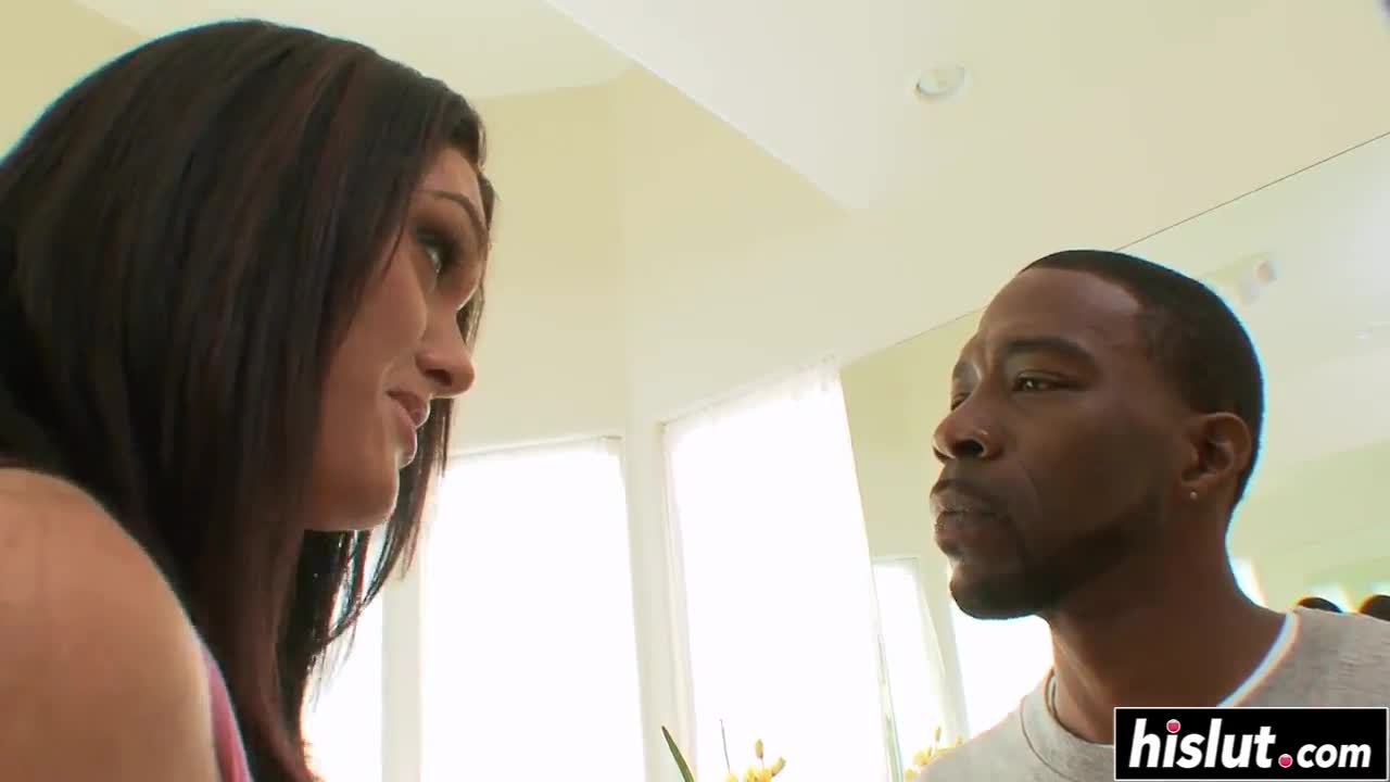 Black dude has fun with a hot brunette