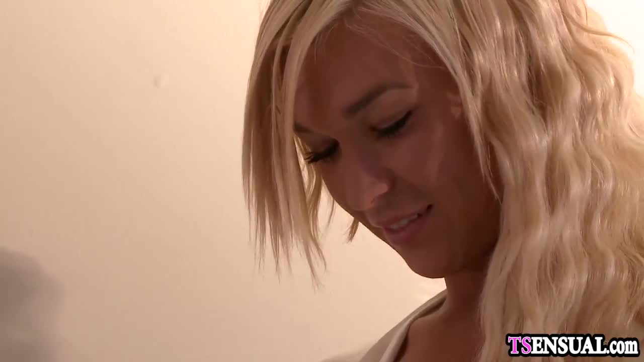 Blonde wife shemale fucked at a honeymoon by a husband