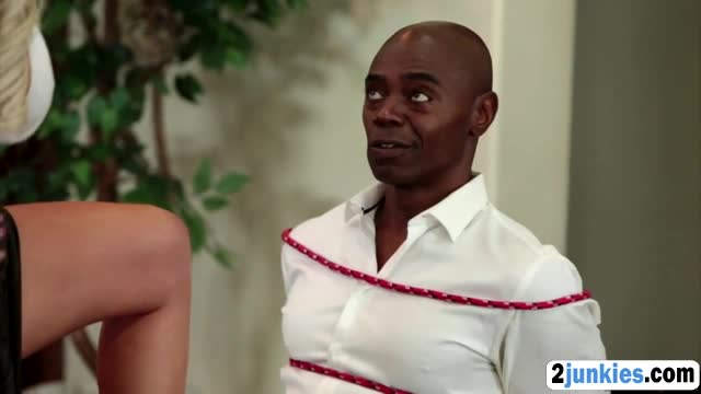 Queer stud watches his hot wife fucking a big black cock
