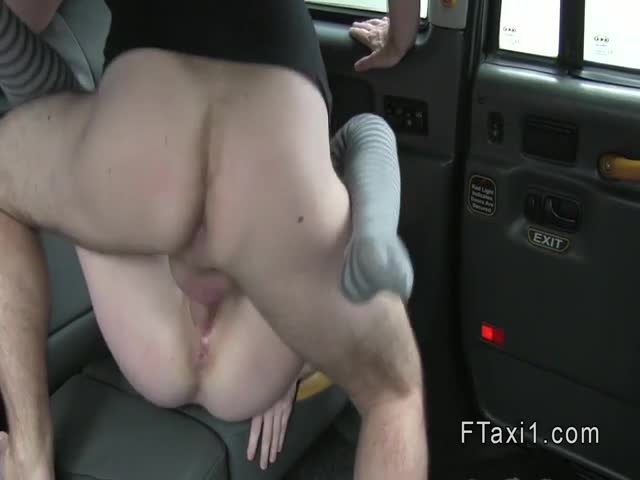 Redhead amateur bangs in fake taxi