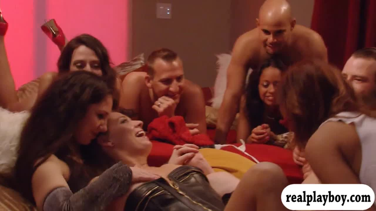 Partners enjoyed orgy in the red room