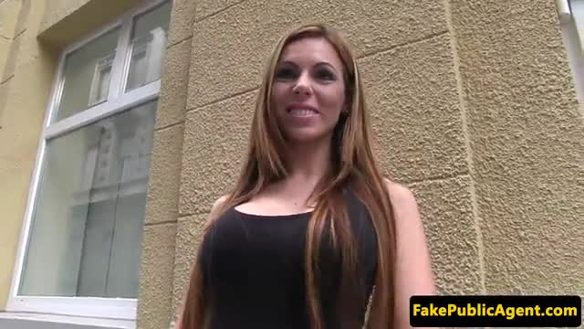 Pickedup euro student gets mouth filled w cum