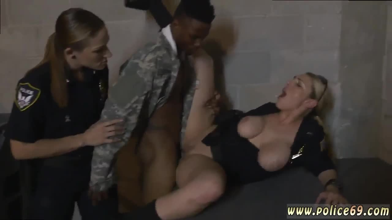 Ebony milf seduces white and young woman Fake Soldier Gets Used as a Fuck