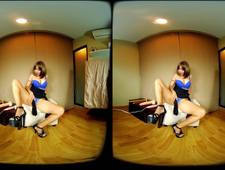3D VR Asian Girl with big tits use her magic wand