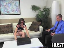 Kimber Woods got hot jizz all over her face and glasses