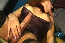 Latina shemale gets her tight ass stuffed with cock