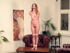 Lera tightly bound in different poses
