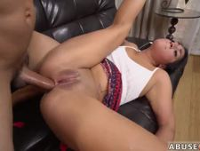 Black chick riding Rough anal invasion fucky fucky for Lexy Bandera s