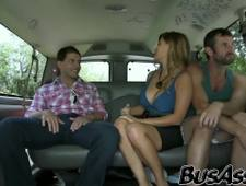 Straight dude invited to the bang bus to smash a hunk