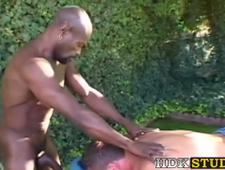Sexy guy has raw fucking session with beefy BBC masseuse