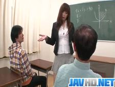 Insolent teacher is in for a steamy fuck at school More at Javhd net