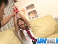 Karen Yuuki gets fucked in raw Asian bondage porn show More at Javhd net